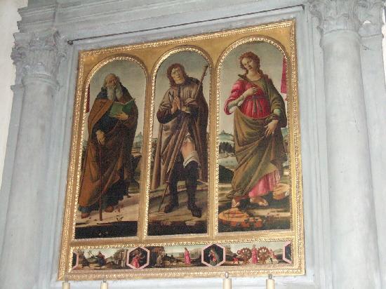 Church of Santa Felicita: ボッティチェリ派の画家による3人の聖人肖像