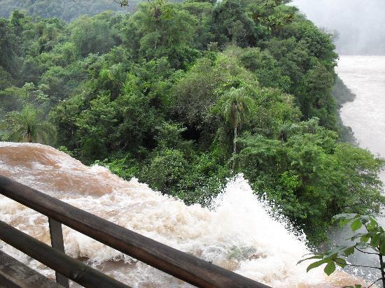 Latino Hotel : Es la quinta vez que voy a Yguazu, y nunca habia visto tanto caudal de agua