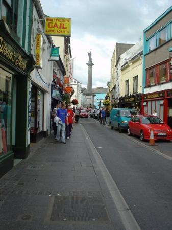 The main road heading toward The Square in Ennis is narrow, quaint, and busy - Ennis/Inis, Irela