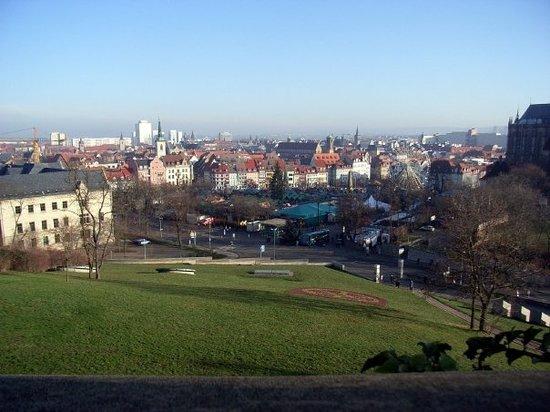 Erfurt, Niemcy: Vy från stazi's högkvarter