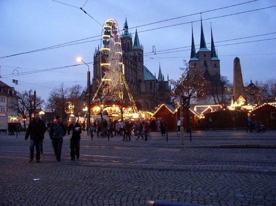 Erfurt, Allemagne: Julmarknad