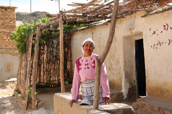 Amizmiz, Morocco: Berber village - the lady of the house