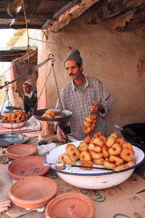 Amizmiz rural market doughnut seller