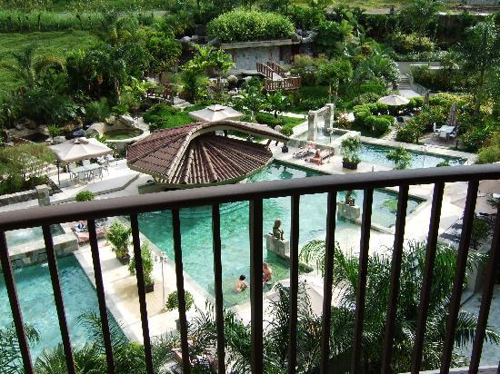 The Royal Corin Thermal Water Spa & Resort: vanop het terras