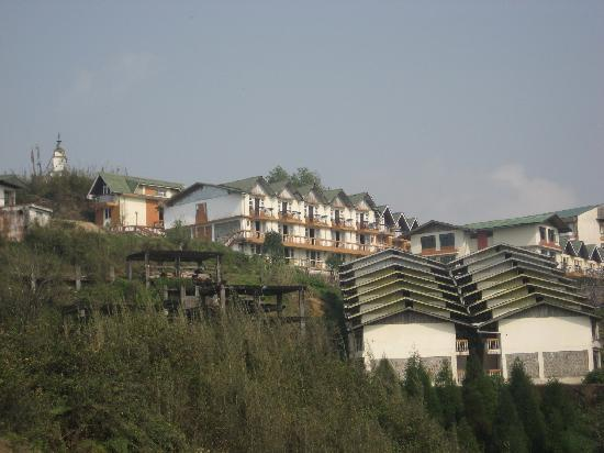 Sterling Darjeeling: View of Sterling Resorts from outside Ghoom Monastery
