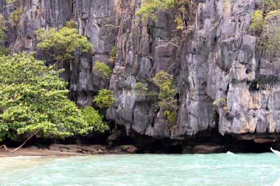 Palawan Island, Philippines: beach, stone formations