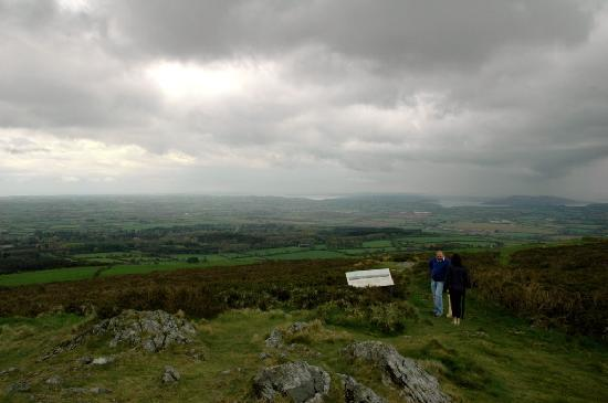 County Wexford, ไอร์แลนด์: JFK Arboretum - viewing point on Slieve Coillte