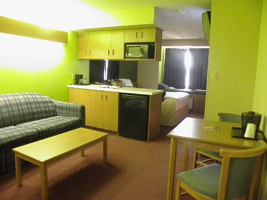 Microtel Inn & Suites by Wyndham Pigeon Forge: Nice and roomy, separated areas give it a larger feel