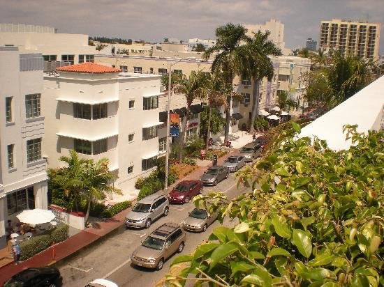 The Hotel of South Beach: Collins Ave (View from the rooftop bar)