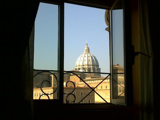 A View of Rome: The website doesn't exaggerate, this really is the view from the window.