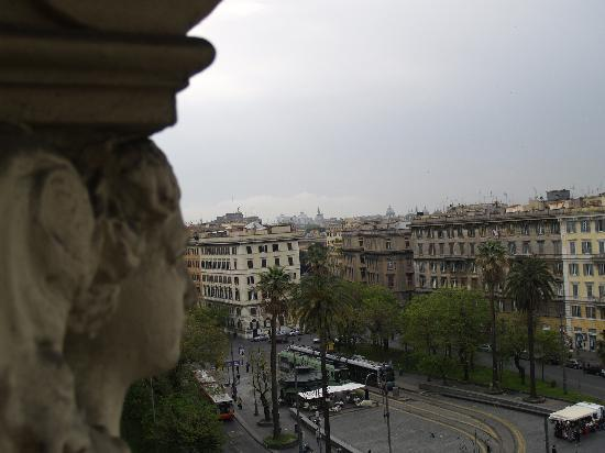 A View of Rome: View from room window looking towards downtown Rome