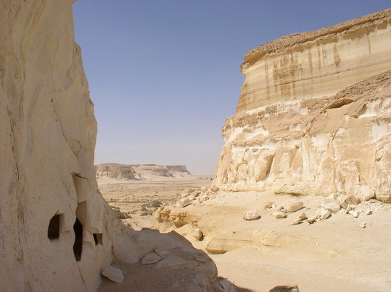 Siwa, Egypt: Desert tombs near the sand sea.