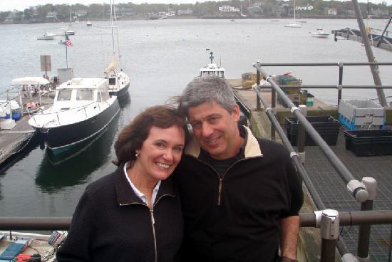 Harbor Light Inn: Ron and Jan taken in front of the Landing