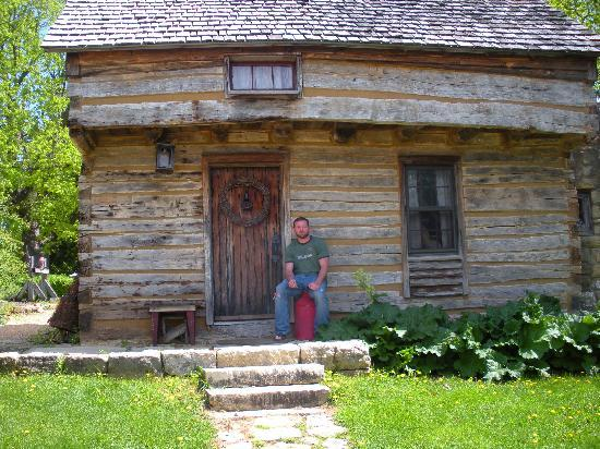 Cothren House: Paul outside of his dream home