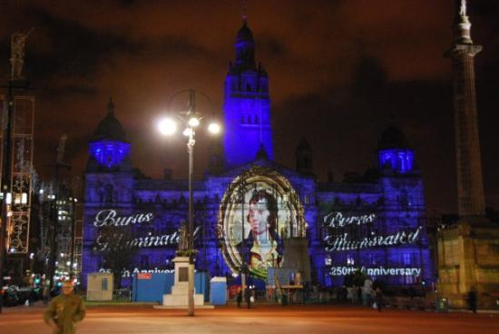 Glasgow, UK: Town Hall at Burns celebration in 2009