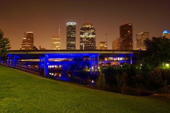 Downtown Houston from Sabine Bridge
