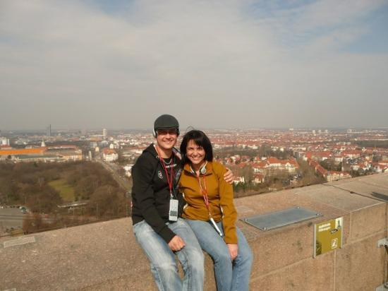 @ Leipzig: in the top of the Völkerschlachtdenkmal - such a beautifull landscape!! =D