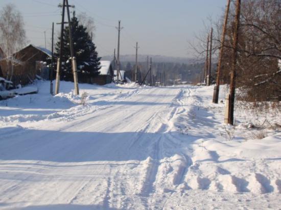 Krasnoyarsk, Russland: So the Siberian village looks)