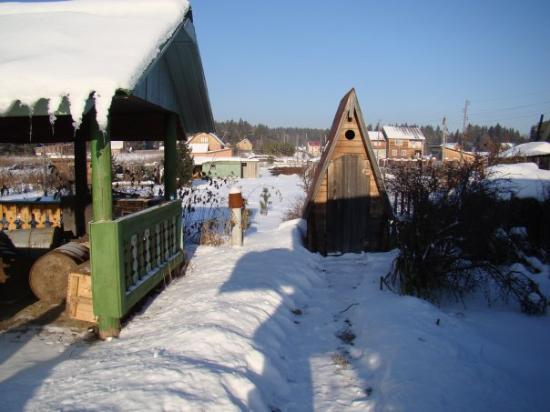 Krasnoyarsk, Russland: WC.. this type not always only for the summer time))) some people use it in winter as well(even