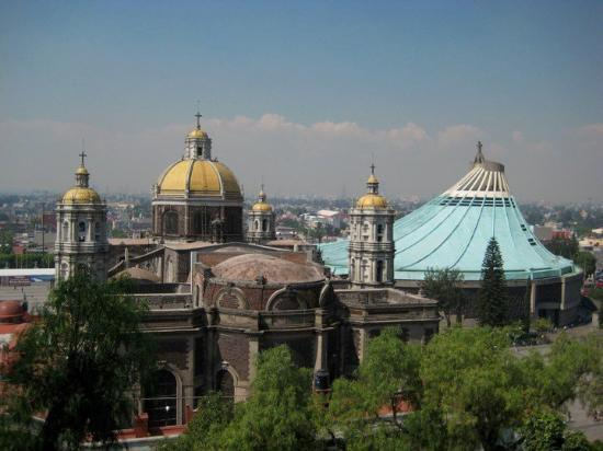 Old and new Basilica de Guadalupe. - Picture of Basilica Lady of ...