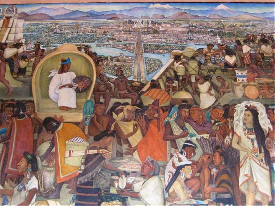 Diego rivera mural national palace picture of national for Mural de rivera