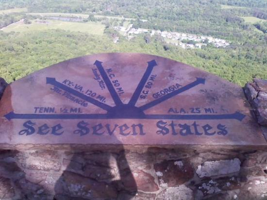 Lookout Mountain : you can really see 7 states