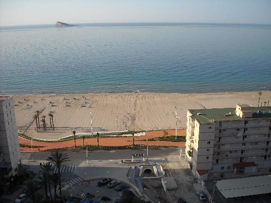 Hotel Poseidon Playa : Vistas de la playa desde la habitación