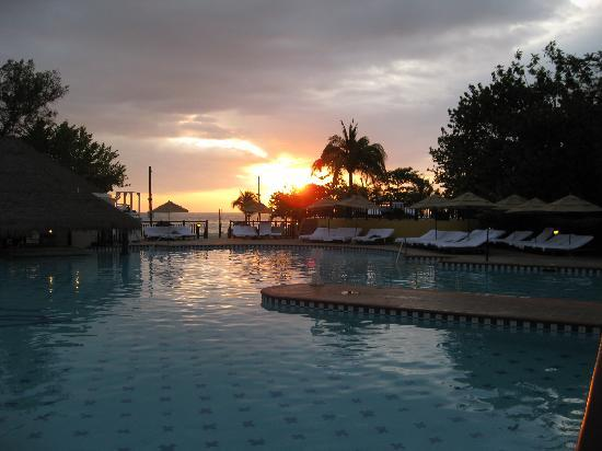 Beaches Negril Resort & Spa: sunset over one of the pools