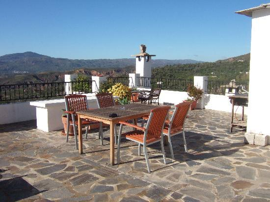 Los Arcos: Morning sun on the roof terrace