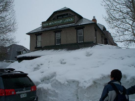 Crested Butte, Colorado: Front of Hotel.