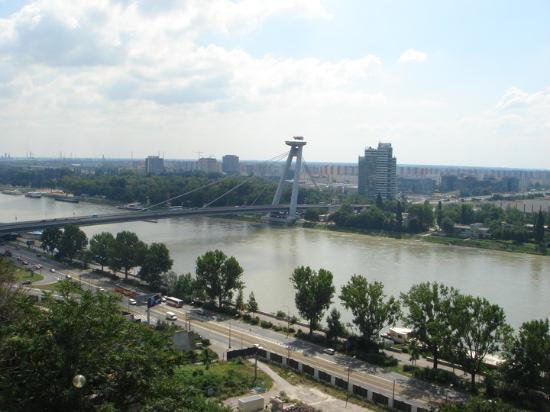 New Bridge (Novy Most): DANUBE RIVER, BRATISLAVA, SLOVAKIA