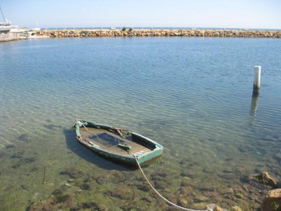 Port El Kantaoui, Tunisie : What a great picture this turned out to be.  A sunken boat still moored up - sums up the Tunisia