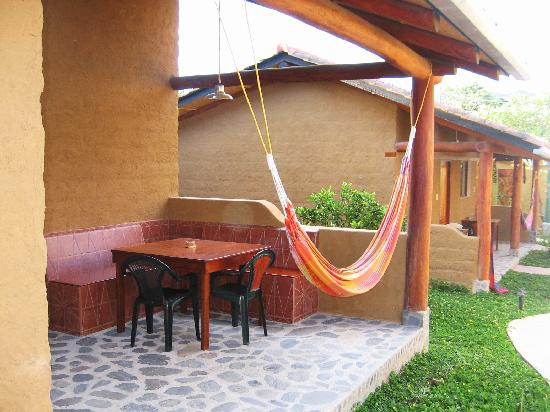 Vilcabamba, Ecuador: new cabin in courtyard, porch