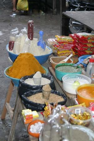Spices in the street market of Iquitos.