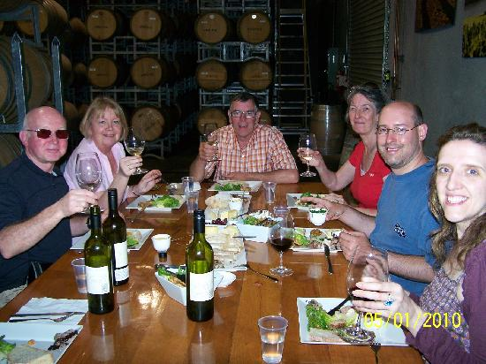 "‪‪Margaret River Discovery Co. Tours‬: Lunch - in the ""Barrel Room""‬"