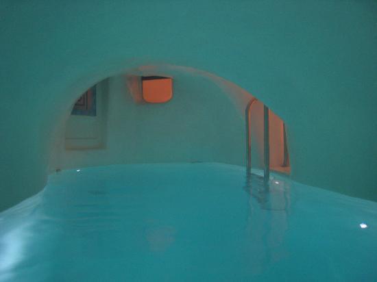 art maisons luxury santorini hotels aspaki oia castle aqua cave pool - Cave Hotel Santorini