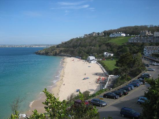 Bay St. Ives Bay Hotel : View from front of hotel (Porthminster Beach)