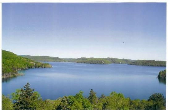 Lake Shore Cabins on Beaver Lake: Bring your camera....it is a post card view!