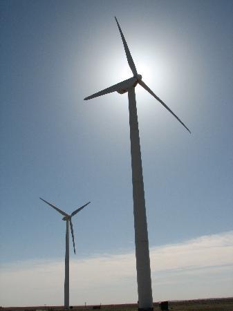 Hampton Inn & Suites Dumas: Just outside the hotel are huge wind turbines, very cool.