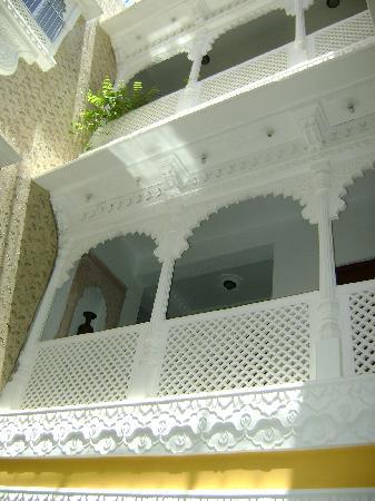 Bundi, India: Rooms  surround a courtyard