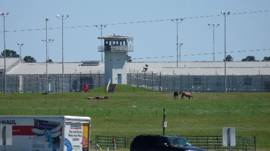 Huntsville Prison is right across the highway