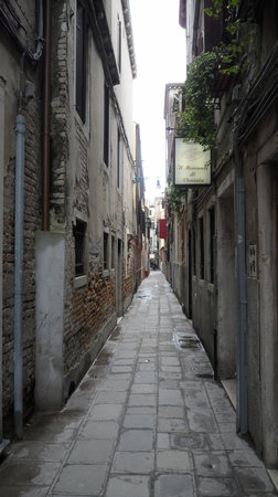 Hotel Santa Lucia: The lane leading to the hotel