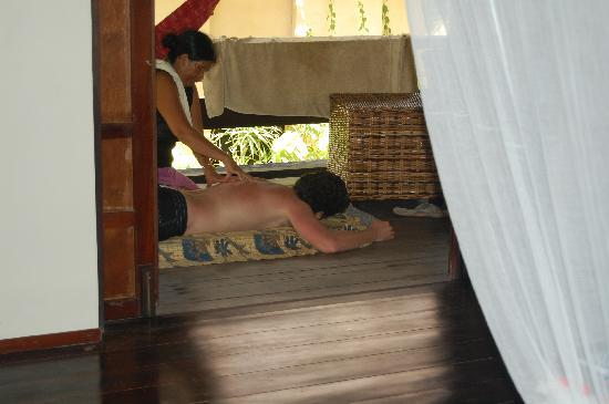 Sagana Resort: They even arranged for us to get massages. Great for those sore muscles from surfing!