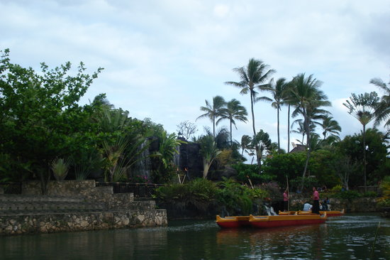 Laie, Hawaï : Canoe ride