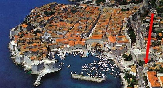 Dubrovnik Bed and Breakfast: Dubrovnik b&b location