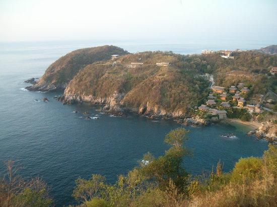 Puerto Angel, المكسيك: La Bahia desde lo alto