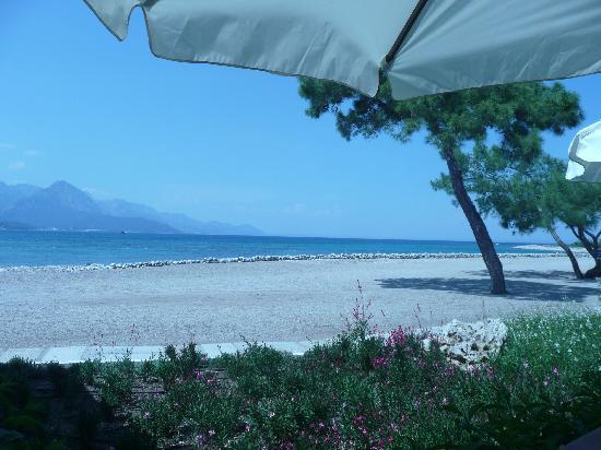 Club Med Kemer: vue du resto sur la plage