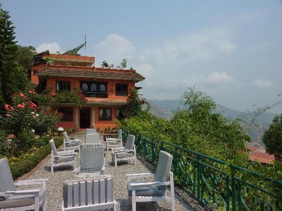 Dhulikhel Lodge Resort : une des terrasses