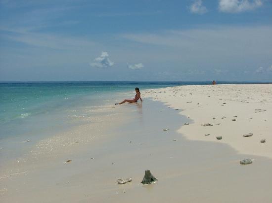 Alidhoo Island: The beach