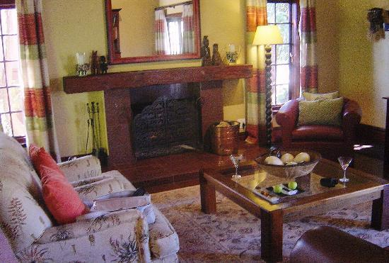 Shamwari Game Reserve, Sør-Afrika: Living Room in our Bungalow